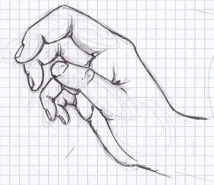 Die blutende Frau - Hand