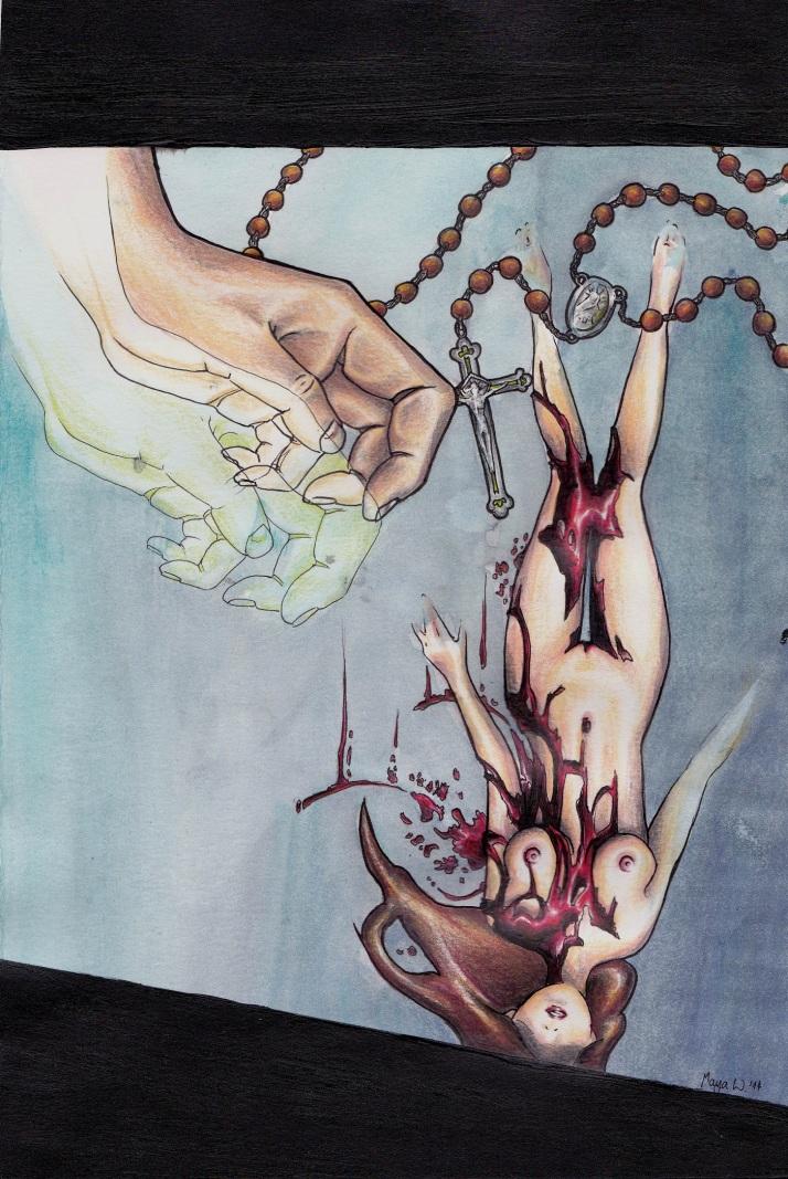 Die blutende Frau - Nahezu fertig