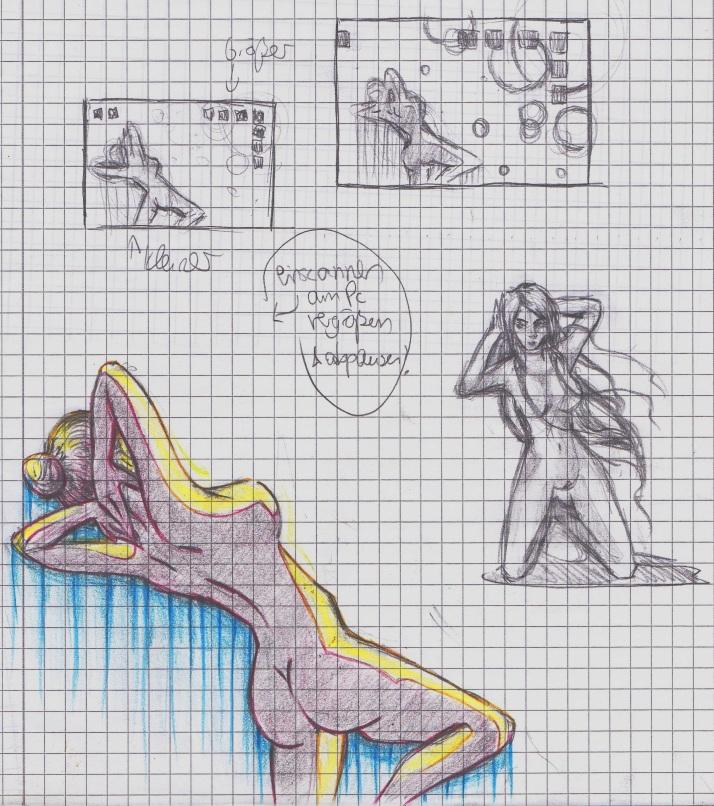 Das Sonnenbad Skizze
