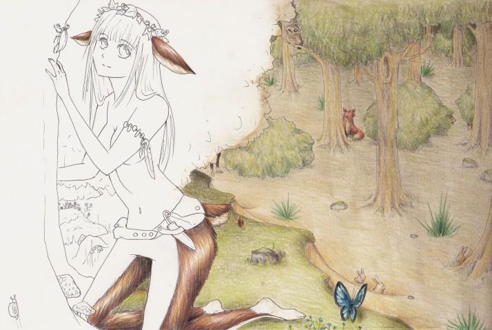 Ricke im Wald