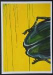59x42 Acryl Käfer gelb