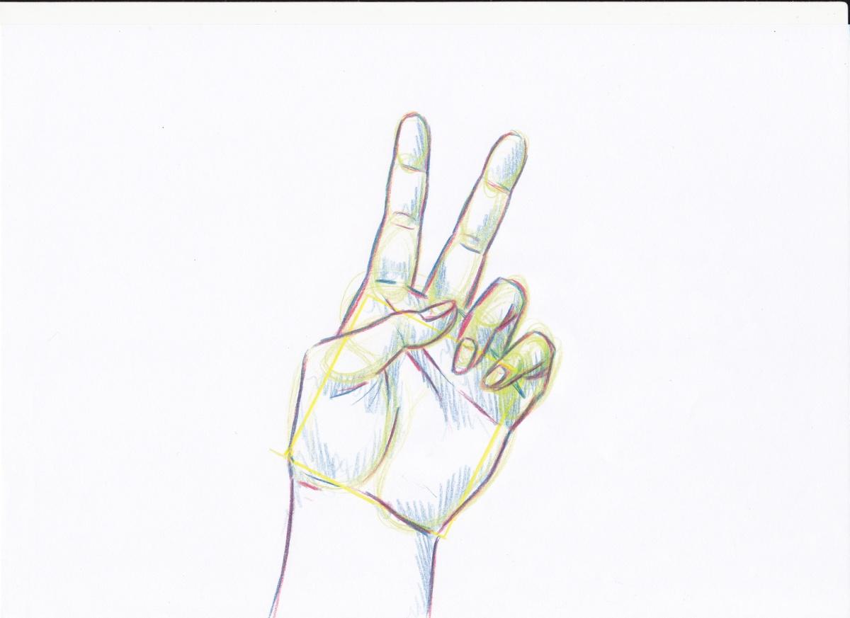 Hände zeichnen - Tutorial