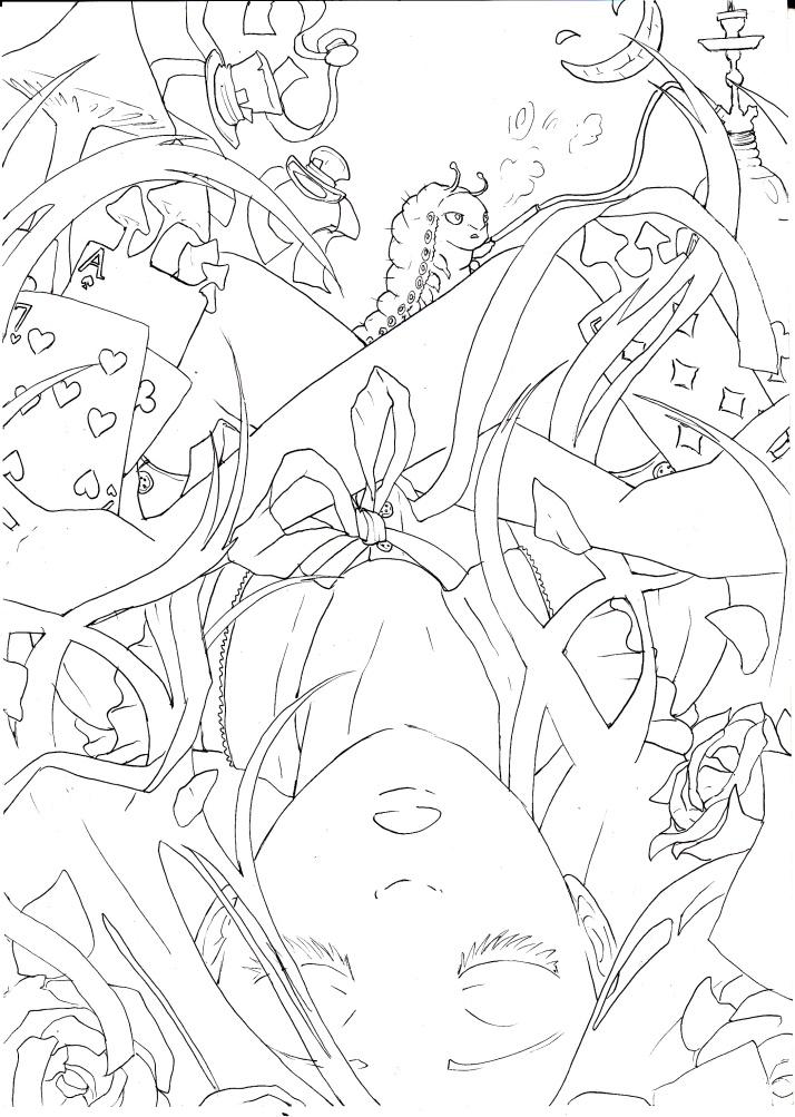 Alice in Wonderland (Absolem in Wonderland) - Entwicklungsprozess 2