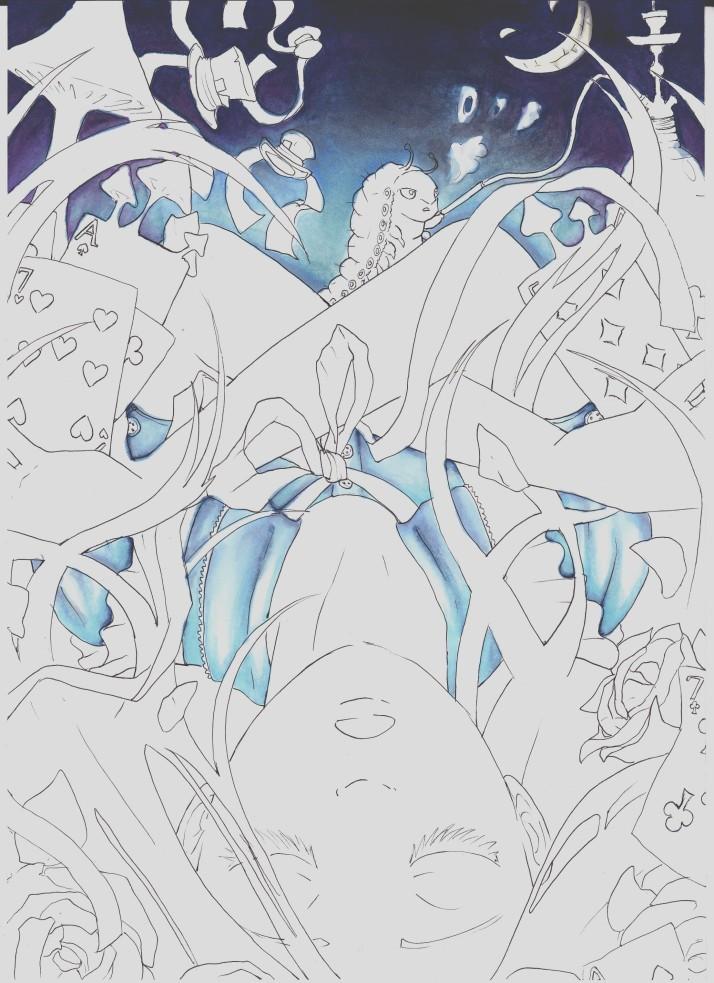 Alice in Wonderland (Absolem in Wonderland) - Entwicklungsprozess 3