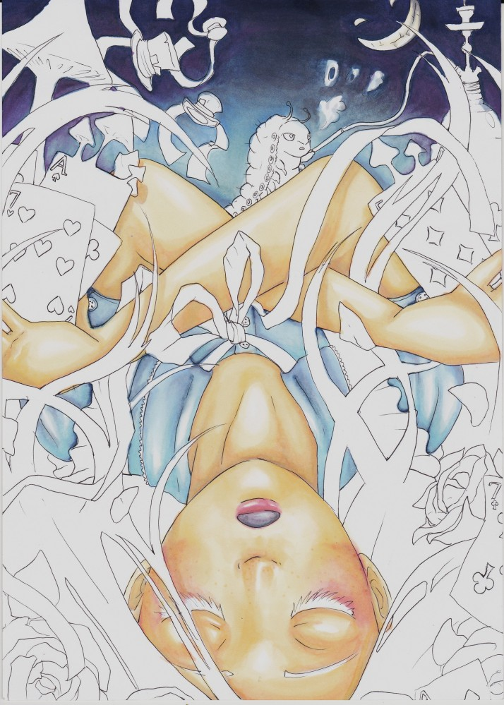 Alice in Wonderland (Absolem in Wonderland) - Entwicklungsprozess 4