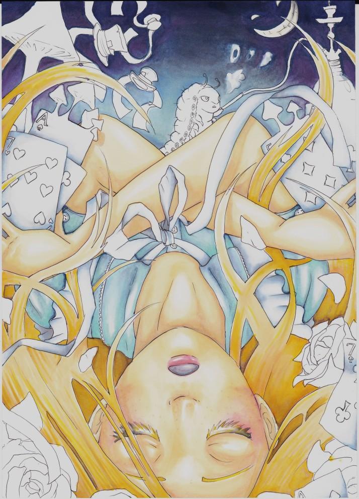 Alice in Wonderland (Absolem in Wonderland) - Entwicklungsprozess 5
