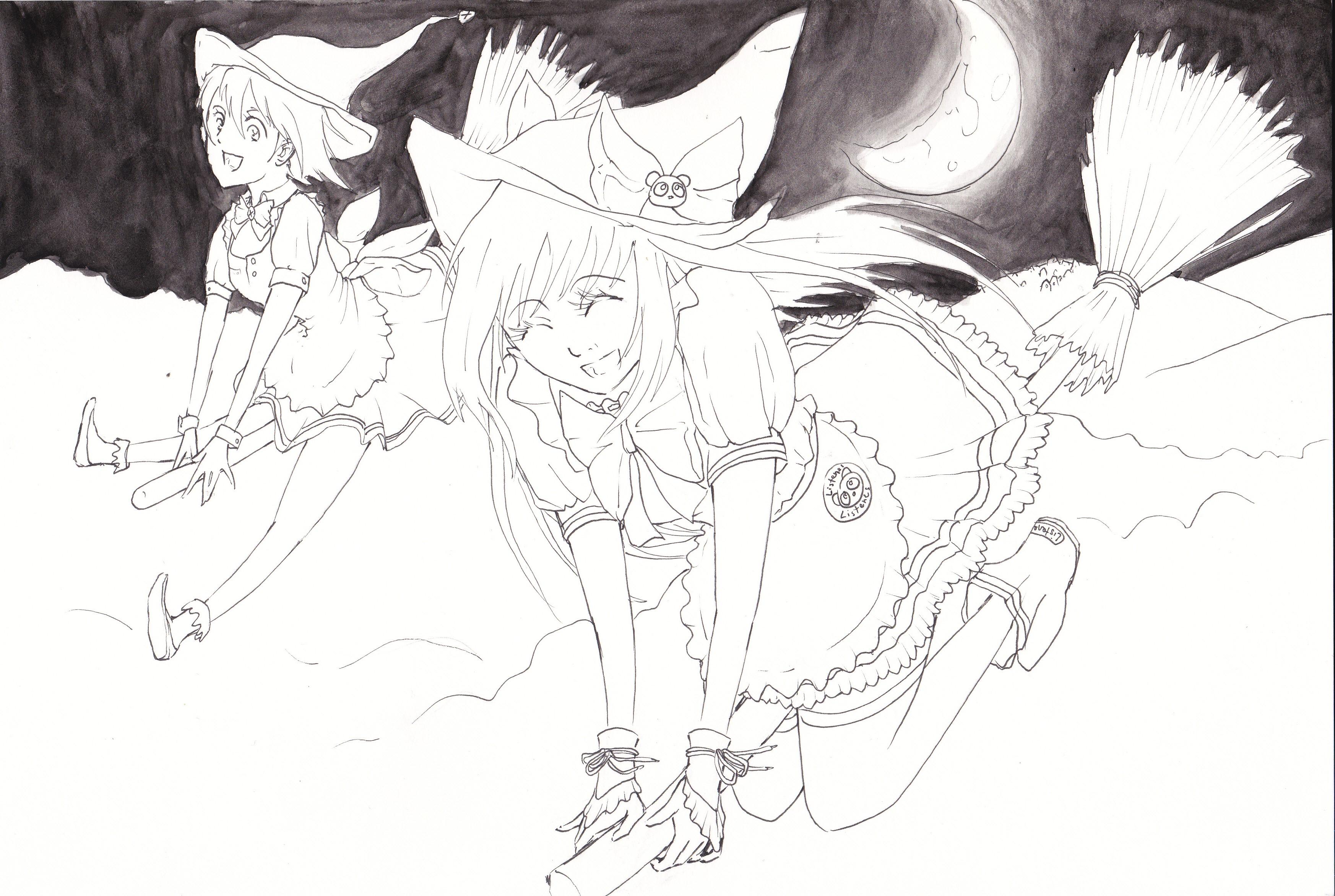 Tomoko und Choco auf ihrem Weg zum Blocksberg - Entwicklungsprozess (2)