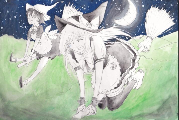 Tomoko und Choco auf ihrem Weg zum Blocksberg - Entwicklungsprozess (3)