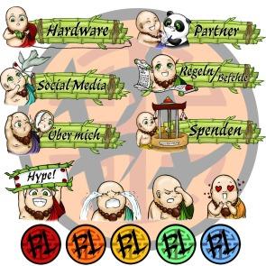 BuddaLive Panes, Emojis, Logos