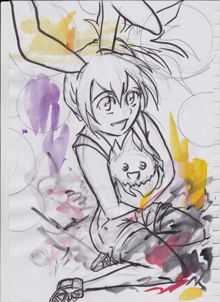 Cosday - Saiko und Hao als Misty und Togepi von Pokémon - Entwicklungsprozess 1