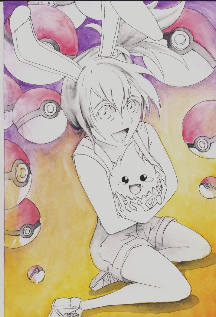 Cosday - Saiko und Hao als Misty und Togepi von Pokémon - Entwicklungsprozess 2