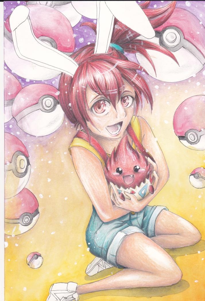 Cosday - Saiko und Hao als Misty und Togepi von Pokémon - Entwicklungsprozess 5
