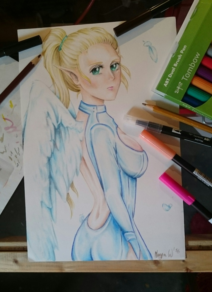 Engel in Blau - Foto