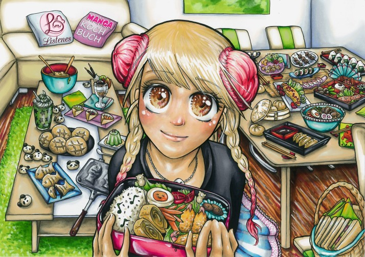 Manga Kochbuch - Listenes Postkarte