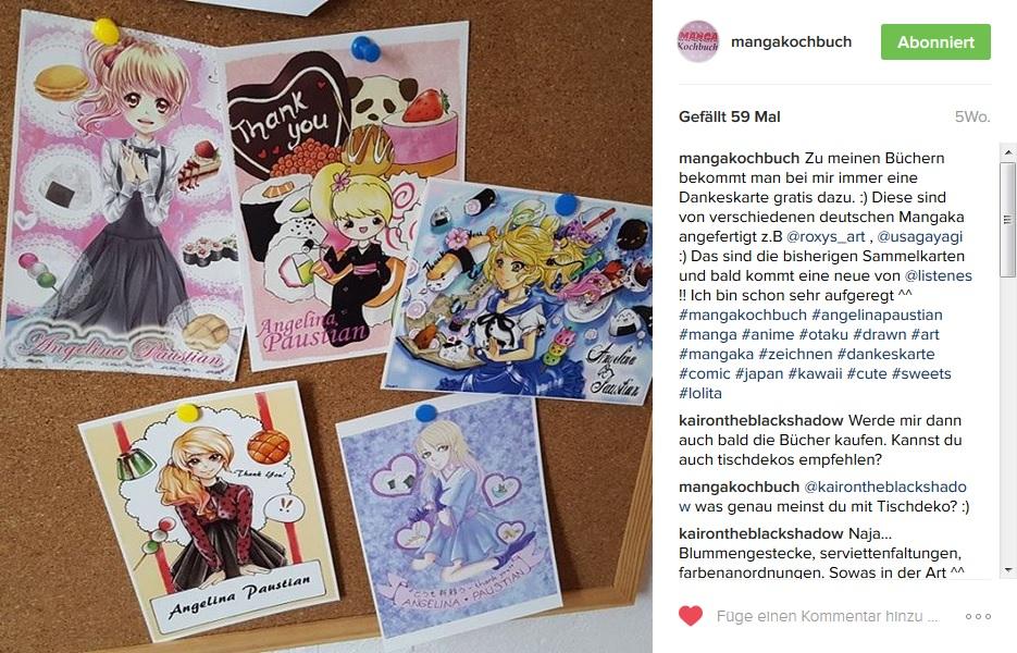 Manga Kochbuch Postkarten
