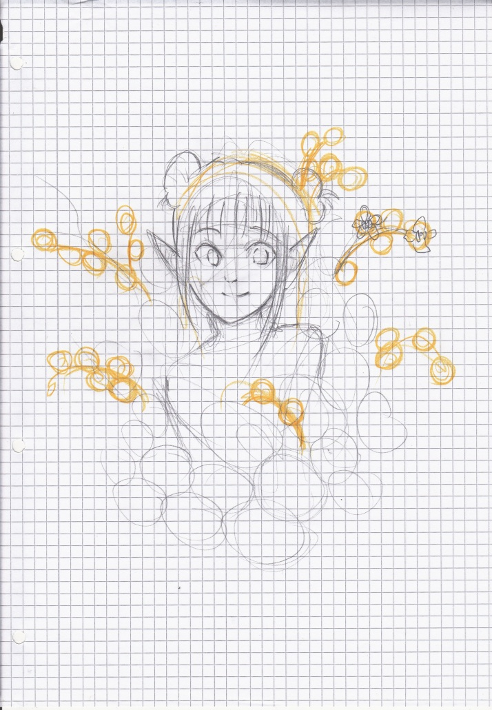 Elfe in Blumen - Entwicklungsprozess 1