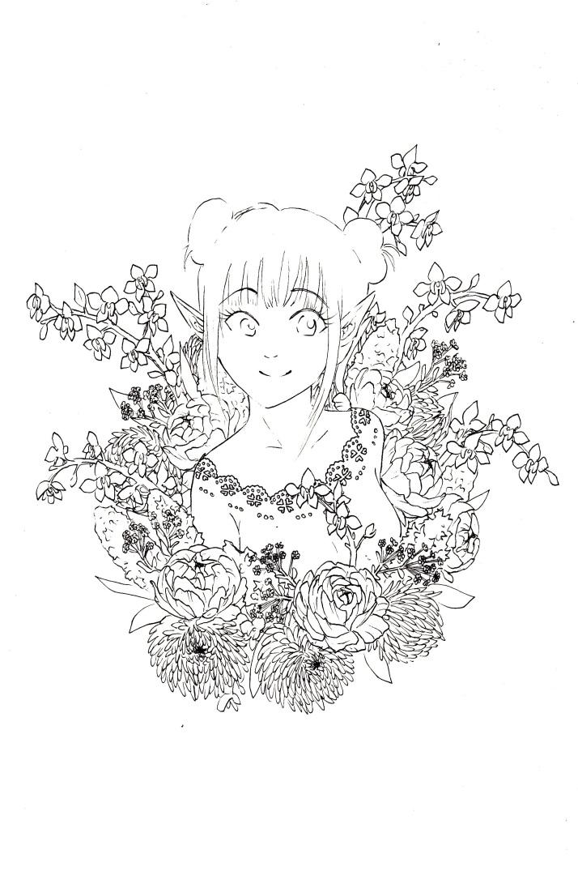Elfe in Blumen - Entwicklungsprozess 3