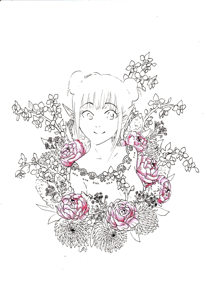 Elfe in Blumen - Entwicklungsprozess 4