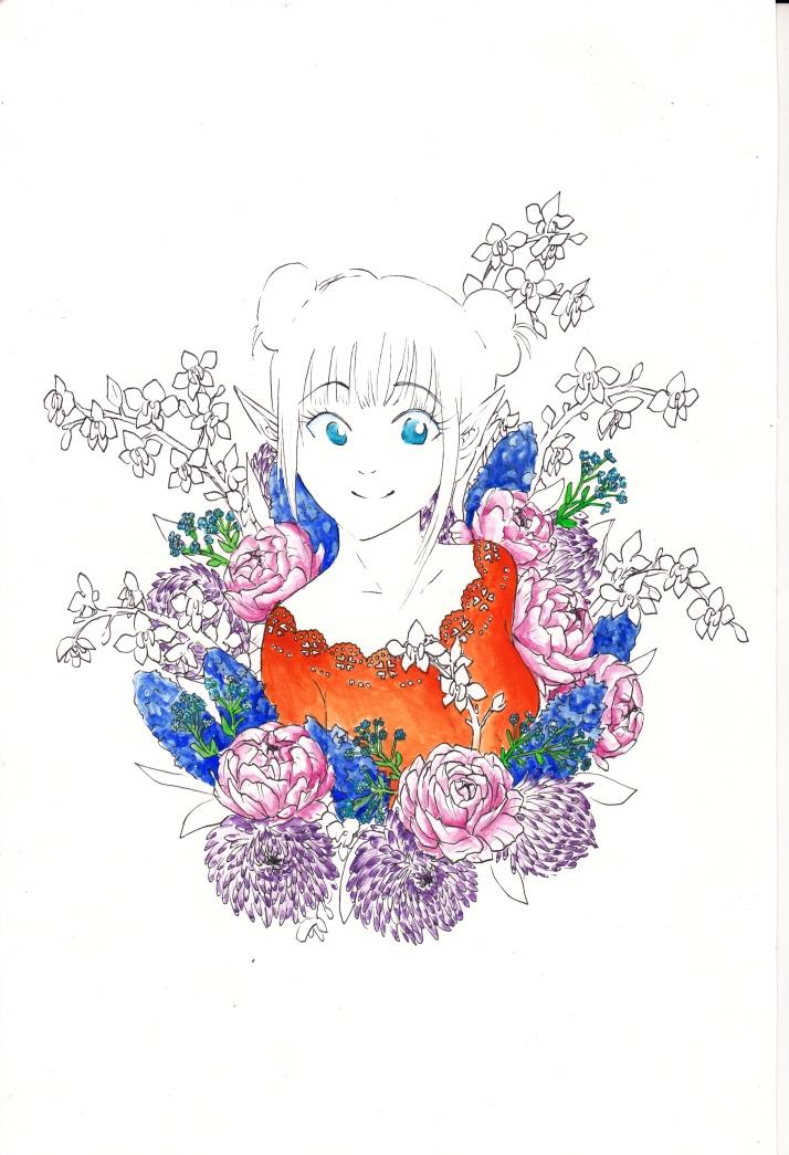 Elfe in Blumen - Entwicklungsprozess 5