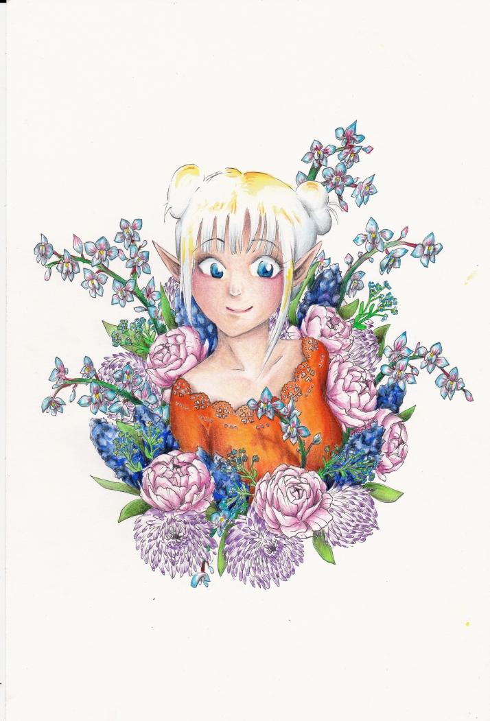 Elfe in Blumen - Entwicklungsprozess 7