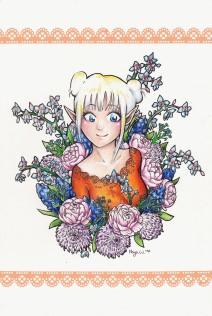 Elfe in Blumen