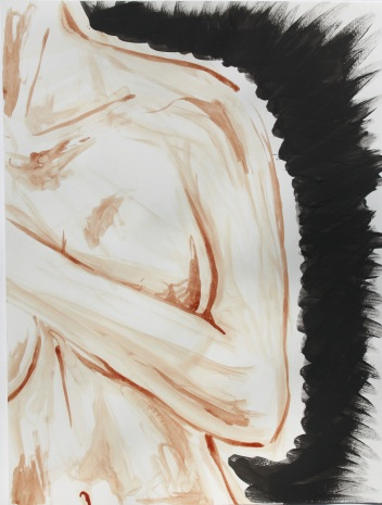 Blutmalerei - Frau mit schwarzem Schein 2