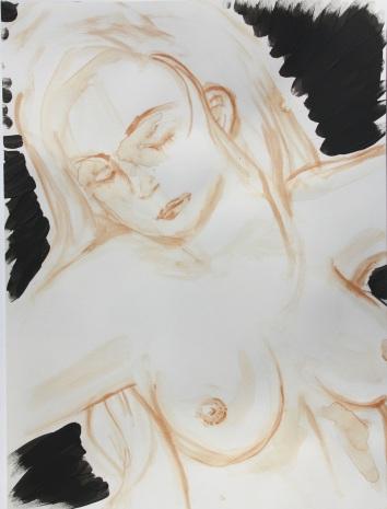 Blutmalerei - Frau mit schwarzem Schein 3