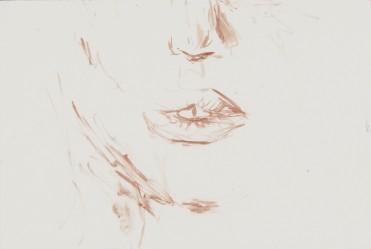 Blutmalerei - Lippen