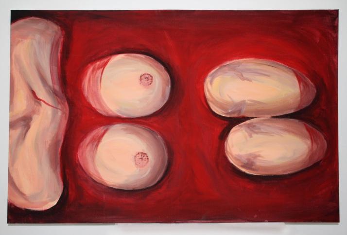 Malerei in Blut badend - zu spät
