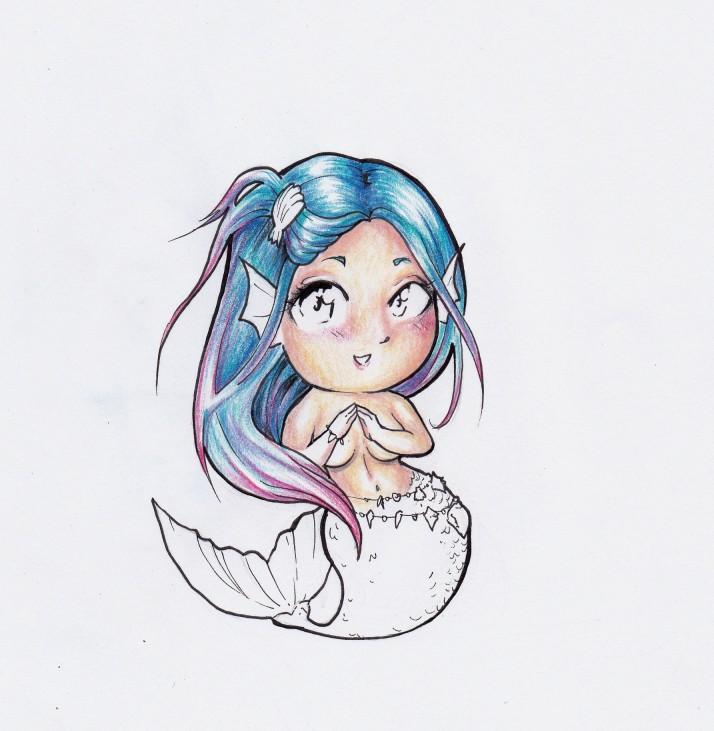 Meerjungfrau Chibi Entwicklungsprozess
