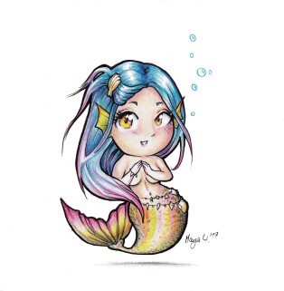 Meerjungfrau Chibi