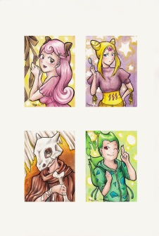 Pokémon Gijinka Aeco Karten
