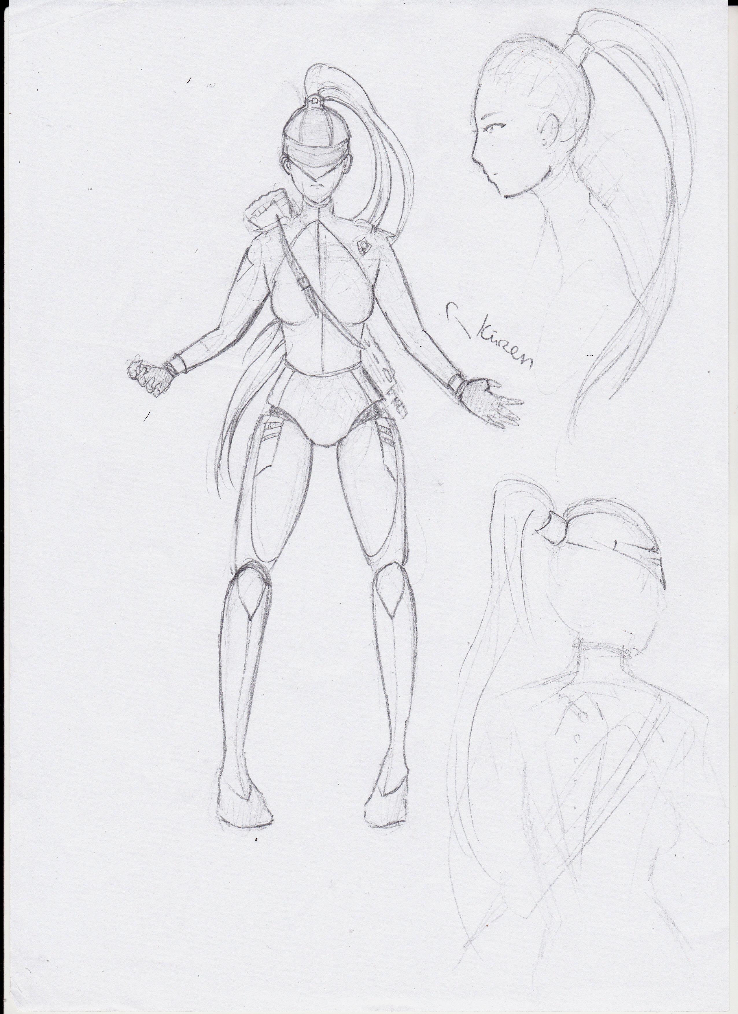 Cyborg Girl - Entwicklungsprozess 01