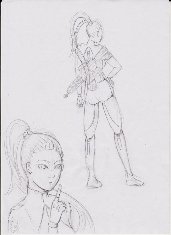 Cyborg Girl - Entwicklungsprozess 02