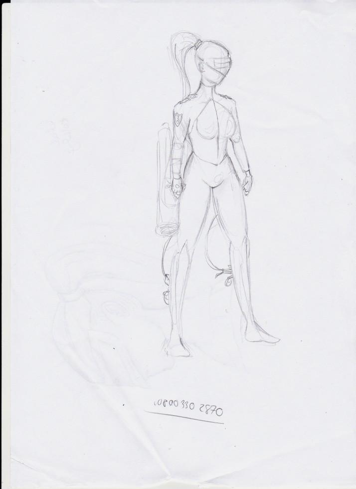 Cyborg Girl - Entwicklungsprozess 03