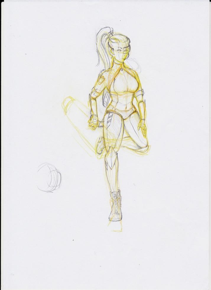 Cyborg Girl - Entwicklungsprozess 04