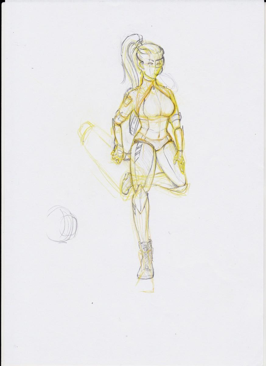 Cyborg Girl - Entwicklungsprozess 1