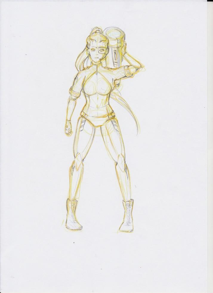 Cyborg Girl - Entwicklungsprozess 05