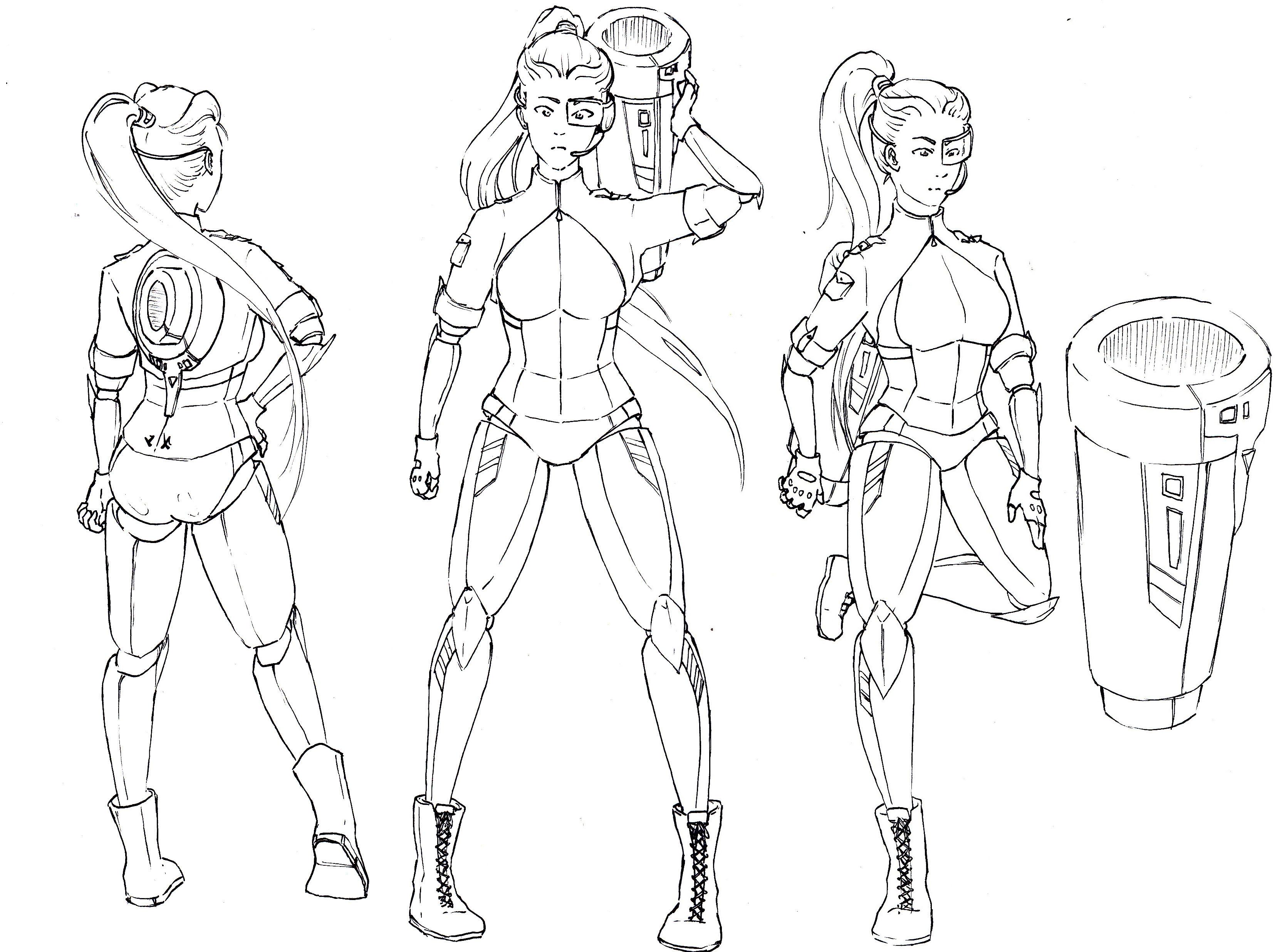 Cyborg Girl - Entwicklungsprozess 07