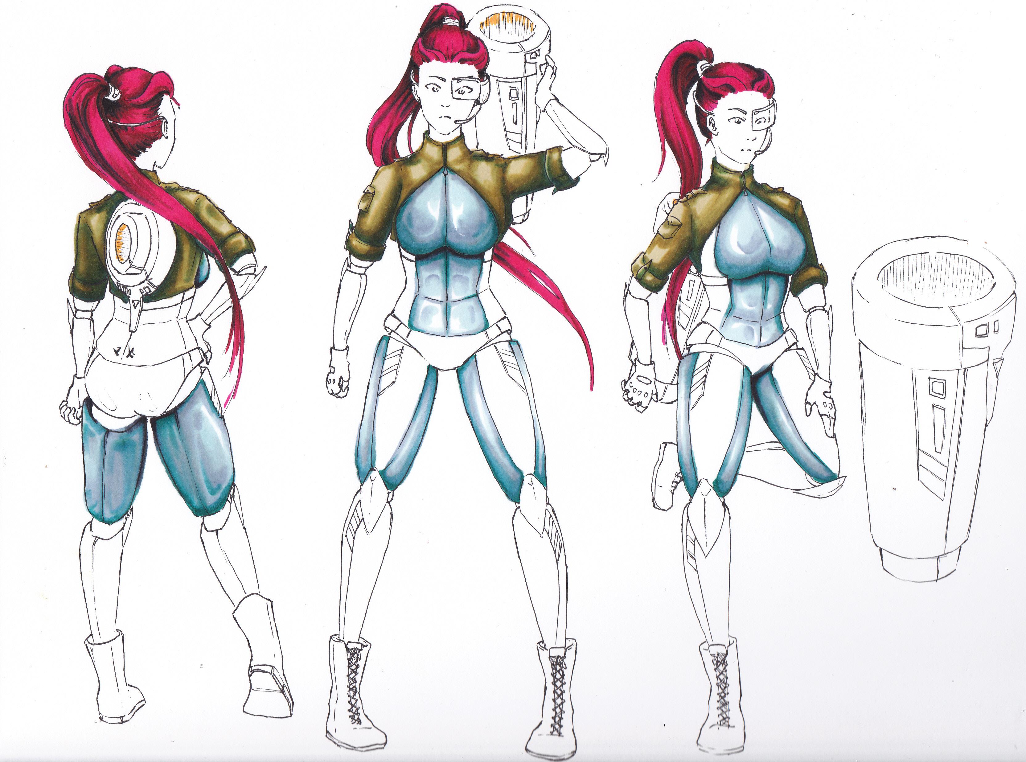 Cyborg Girl - Entwicklungsprozess 08