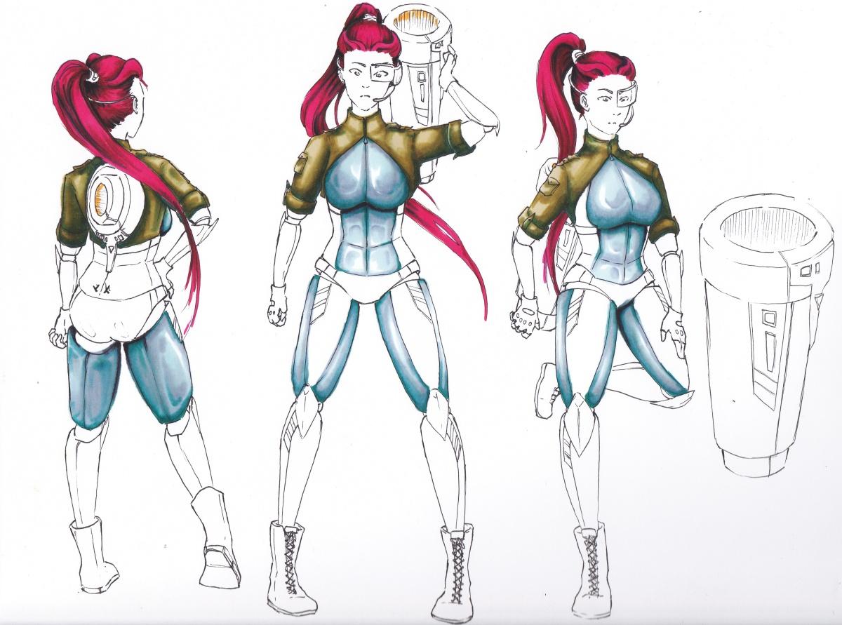 Cyborg Girl - Entwicklungsprozess 2