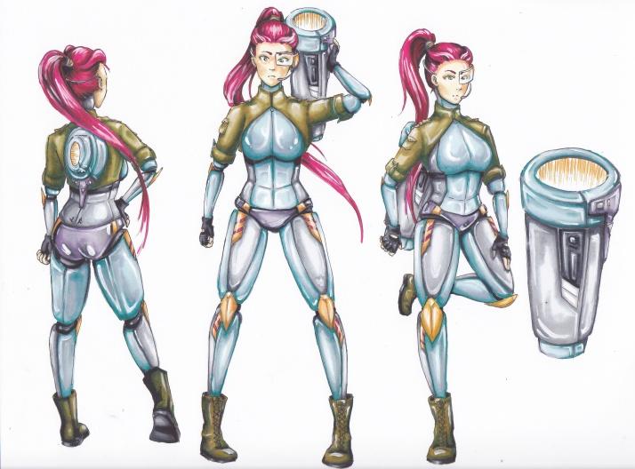 Cyborg Girl - Entwicklungsprozess 09