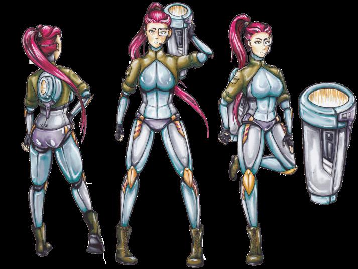 Cyborg Girl - Entwicklungsprozess 10