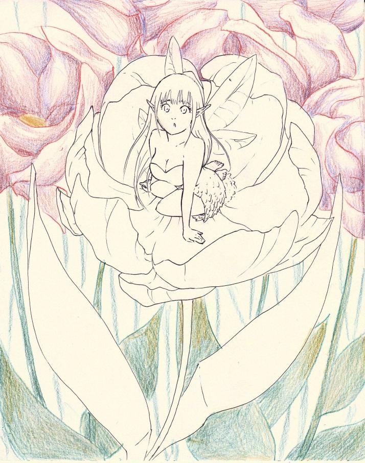 Elfe in Blumen - Entwicklungsprozess 02