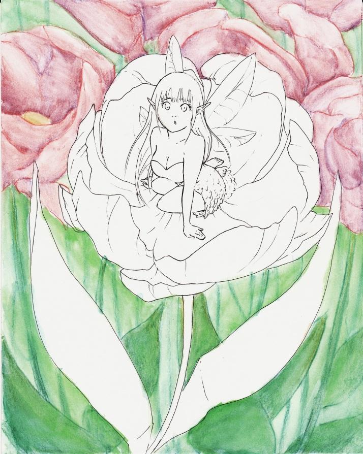 Elfe in Blumen - Entwicklungsprozess 03