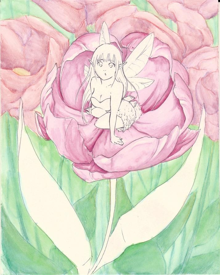 Elfe in Blumen - Entwicklungsprozess 04