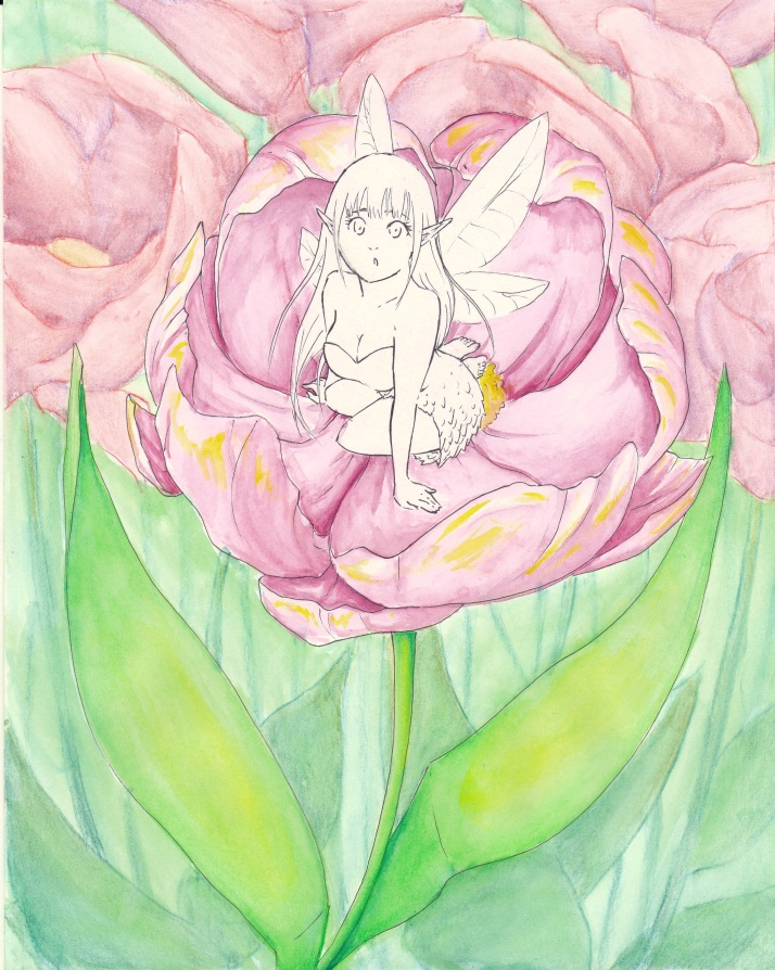 Elfe in Blumen - Entwicklungsprozess 05