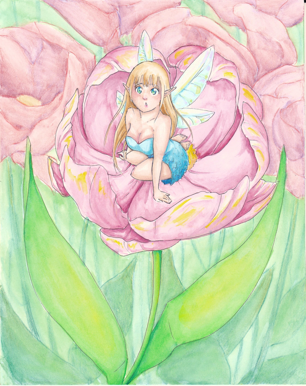 Elfe in Blumen - Entwicklungsprozess 06