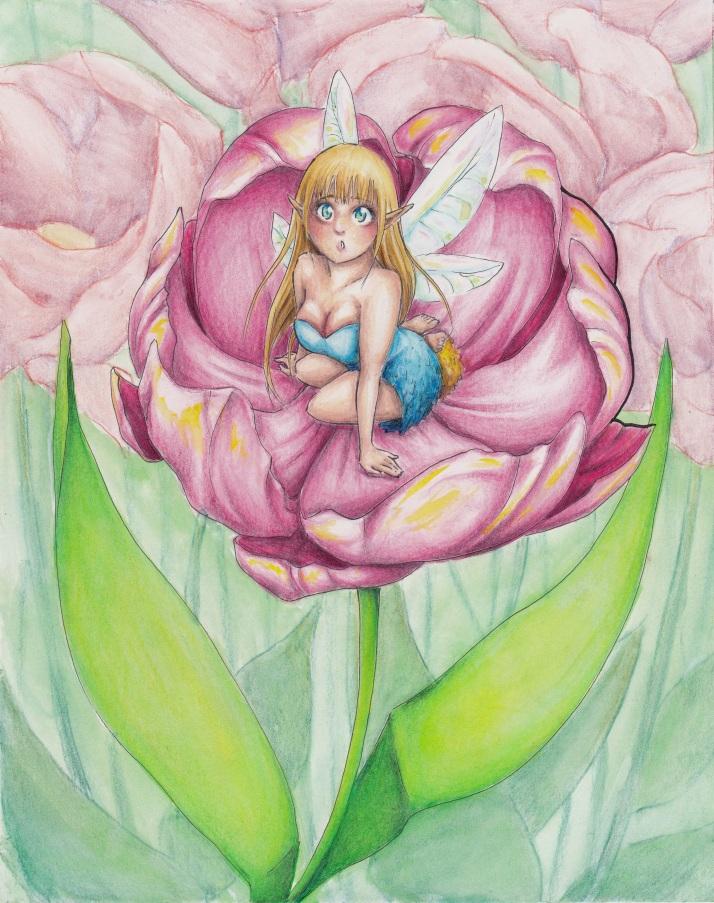 Elfe in Blumen - Entwicklungsprozess 08