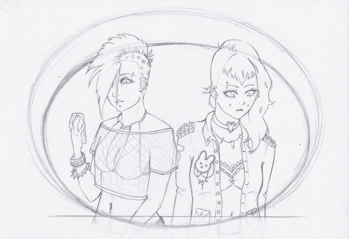 Punk Girls Entwicklungaprozess 02